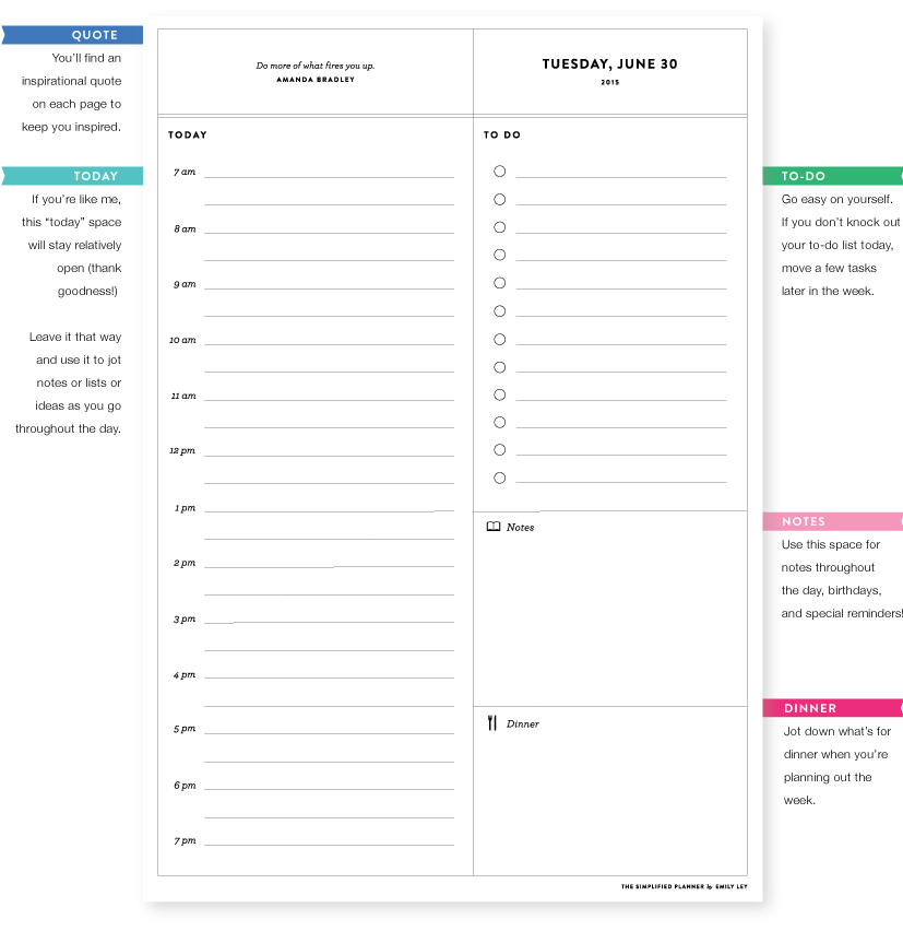 The Emily Ley Simplified Planner — The Land of the Swoo