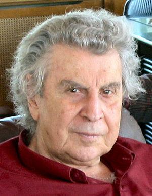 Mikis Theodorakis, one of the most popular Gre...