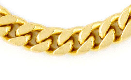 Foto 2, Massives gewölbtes Flachpanzer Gold-Armband, 14K Luxus!, K2179