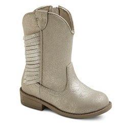 Toddler Girls' Delmi Fringe Cowboy Boots - Silver