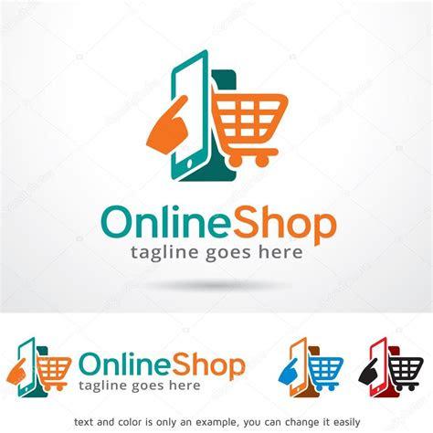 internet magazin logotip shablonu dizaynu stokoviy vektor