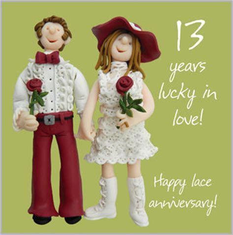 13th Wedding Anniversary Card   Karenza Paperie