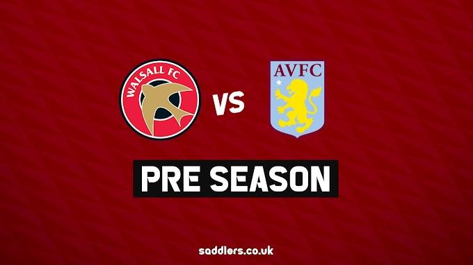Pre-Season: Walsall to Take on Aston Villa
