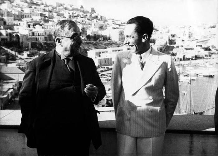 Ο Μεταξάς με τον αγαπημένο φίλο του, καλεσμένο του στην Αθήνα, τον Γκαίμπελς.