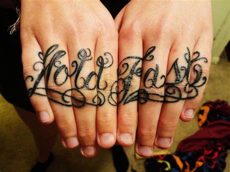 latest knuckle tattoos ideas