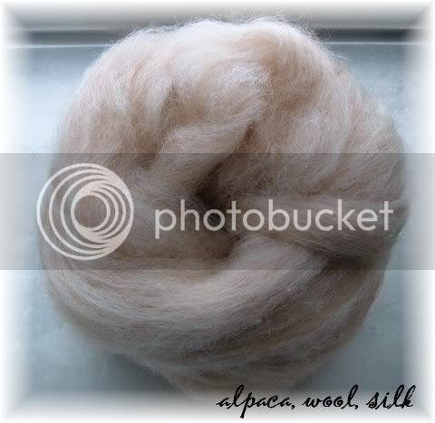 Alpaca Wool Silk Roving