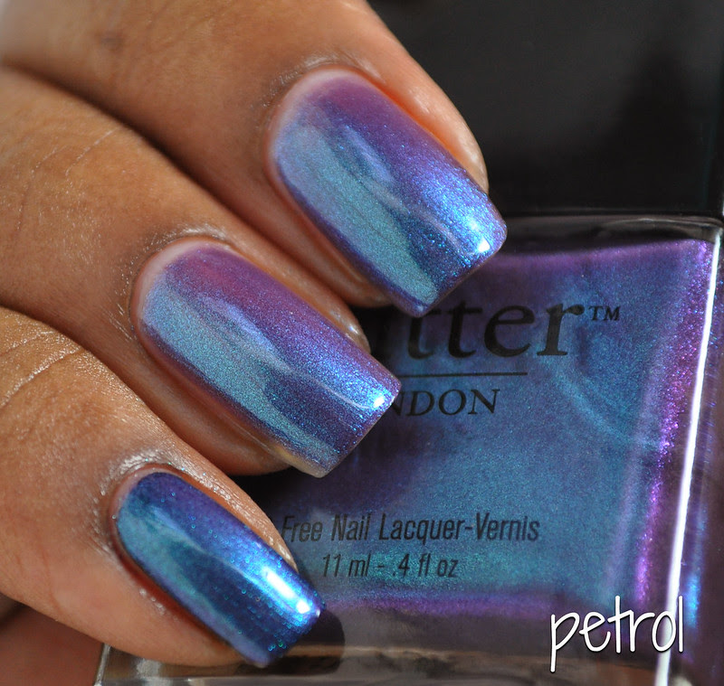 butter london petrol purple blue nail polish