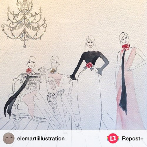 "gidgetbowden:""@elemartiillustration: From the past…. Inspired by Lanvin Resort 2015 @lanvinofficial"" #repost+"
