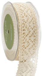 Crocheted Thread Ribbon 1-1/2 - IVORY