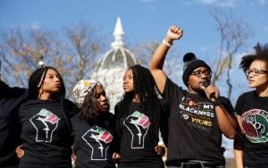 A group of University of Missouri protestors
