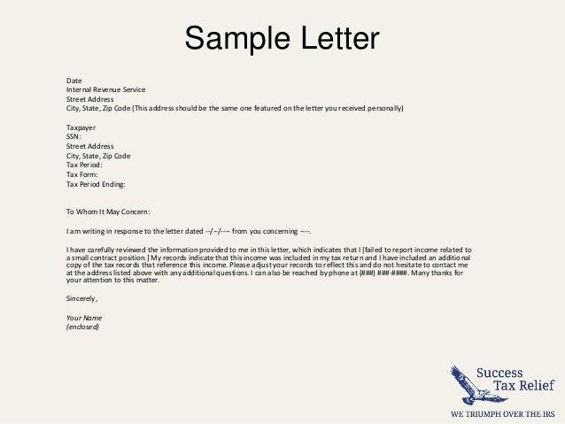 Irs letter template targergolden dragon spiritdancerdesigns Image collections