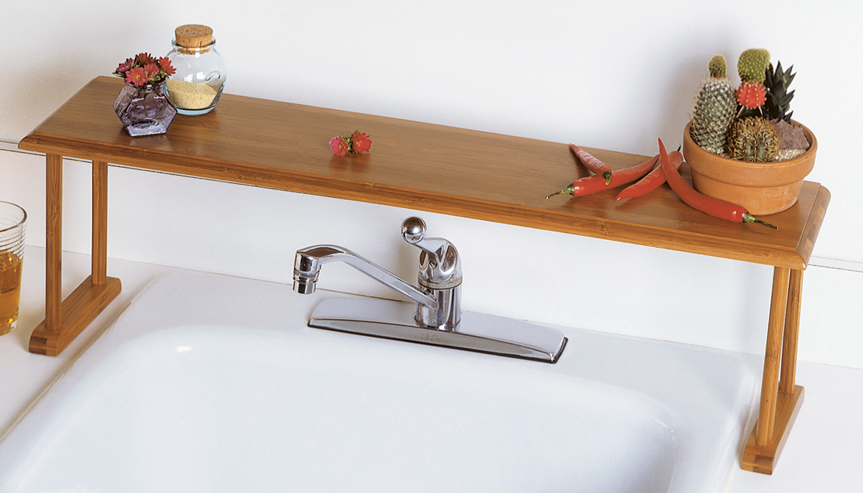 Bamboo Over The Sink Shelf Lipper International Shelves