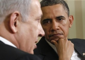 Obama glares at Bibi