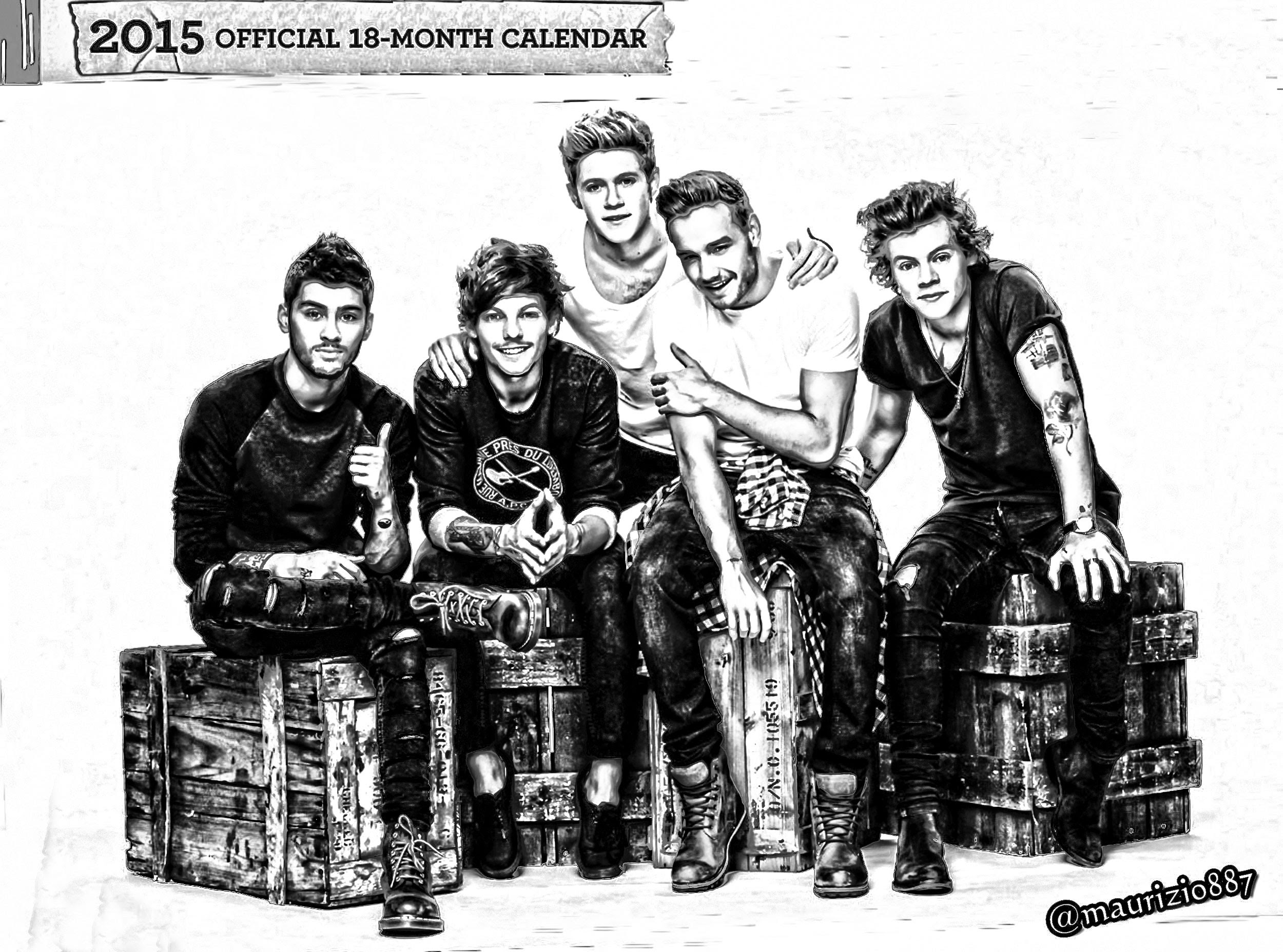 One Direction Official Calendar 2015 One Direction Photo