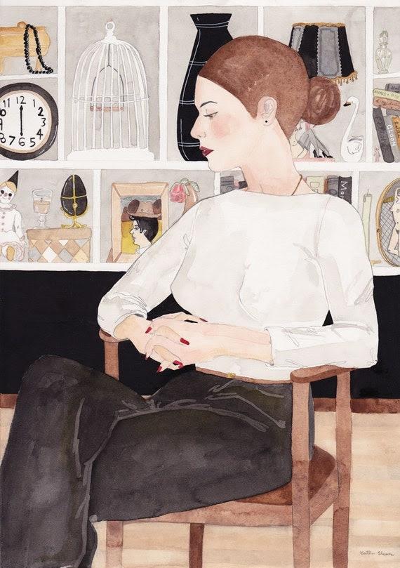 The Gentlewoman , LARGE cardstock print