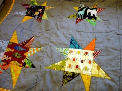 EtsyBABY Baby Shower GAME PRIZE - StarBaby Quilt