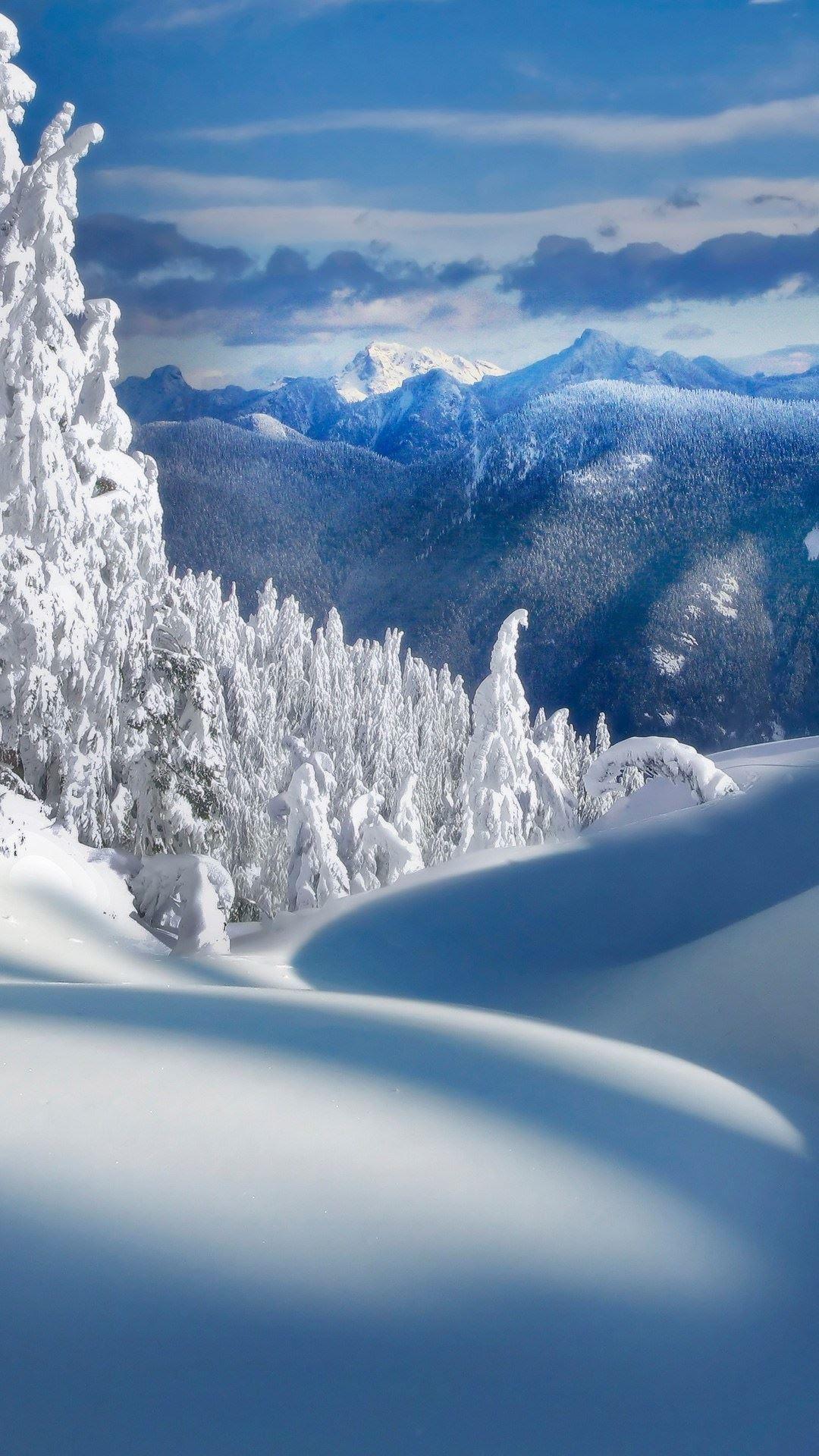 フェアリーテイルクリスマス雪風景iphone 7 Plus Android壁紙 Iphone