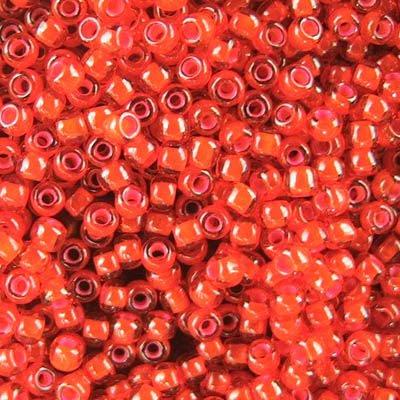 tb11r957 Japanese Seedbeads - 11/0 Toho Seedbeads - Inside Color Pink/Orange
