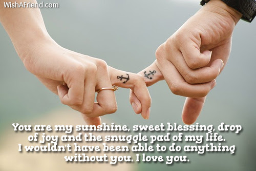 You Are My Sunshine Sweet Blessing I Love You Message