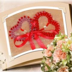 Scheda di San Valentino con le proprie mani