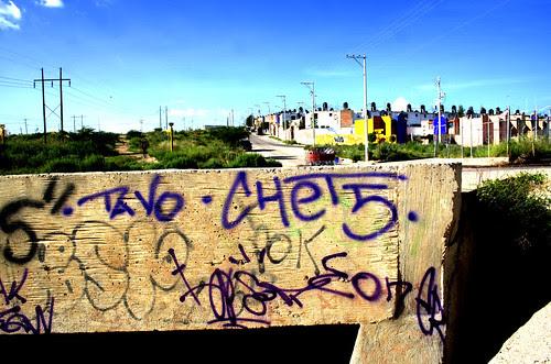 Graffiti en Lomas del Ajedrz en Aguascalientes, en HDR