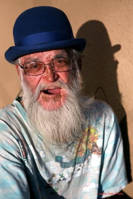 Street Portrait in Blue Hat