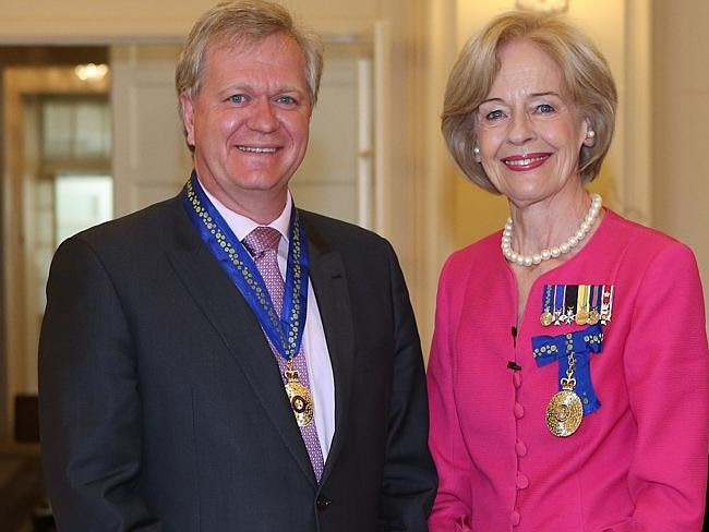Awarded ... the Governor-General Quentin Bryce (right) at Government House in Canberra wi