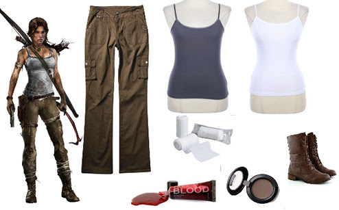 Quick and easy Lara Croft survivor costume