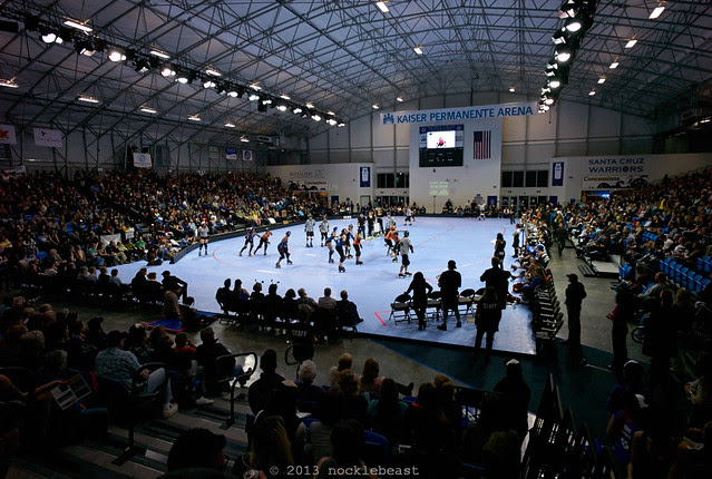 Santa Cruz's Kaiser Permanente Arena as a venue for, that's right, roller derby!