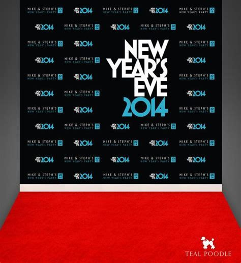 New Years Eve Party Custom Red Carpet Event Backdrops For