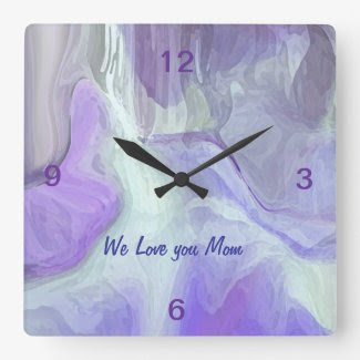 ANGELS PARADISE wall clock for mothers Day