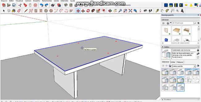 drawing a table with sketchup | sketchup tutorials