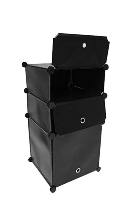 Snap Dorm Cubes - 3-Tier Nightstand