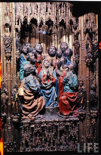 Detalle del altar mayor de la Catedral de Toledo en 1963. Fotografía de Dmitri Kessel. Revista Life (22)