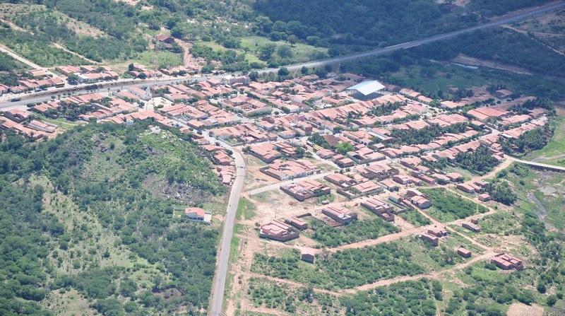 Imagem aérea da cidade de Francisco Macedo
