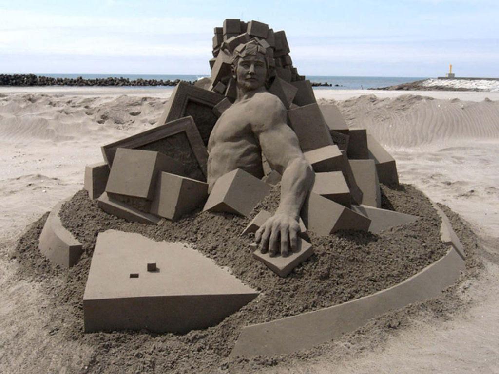 As extraordinárias esculturas de areia de Toshihiko Hosaka 17