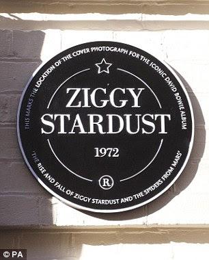Ziggy stardust plaque