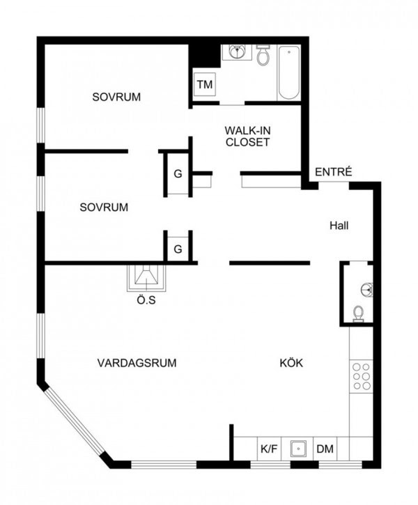 22 apartment floorplan
