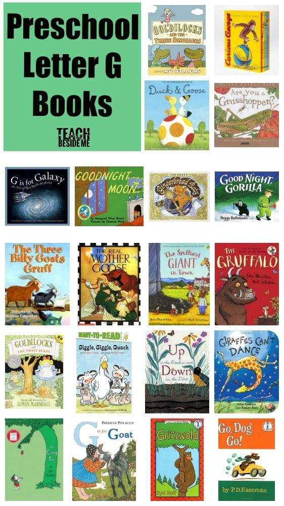 Preschool Letter G Books