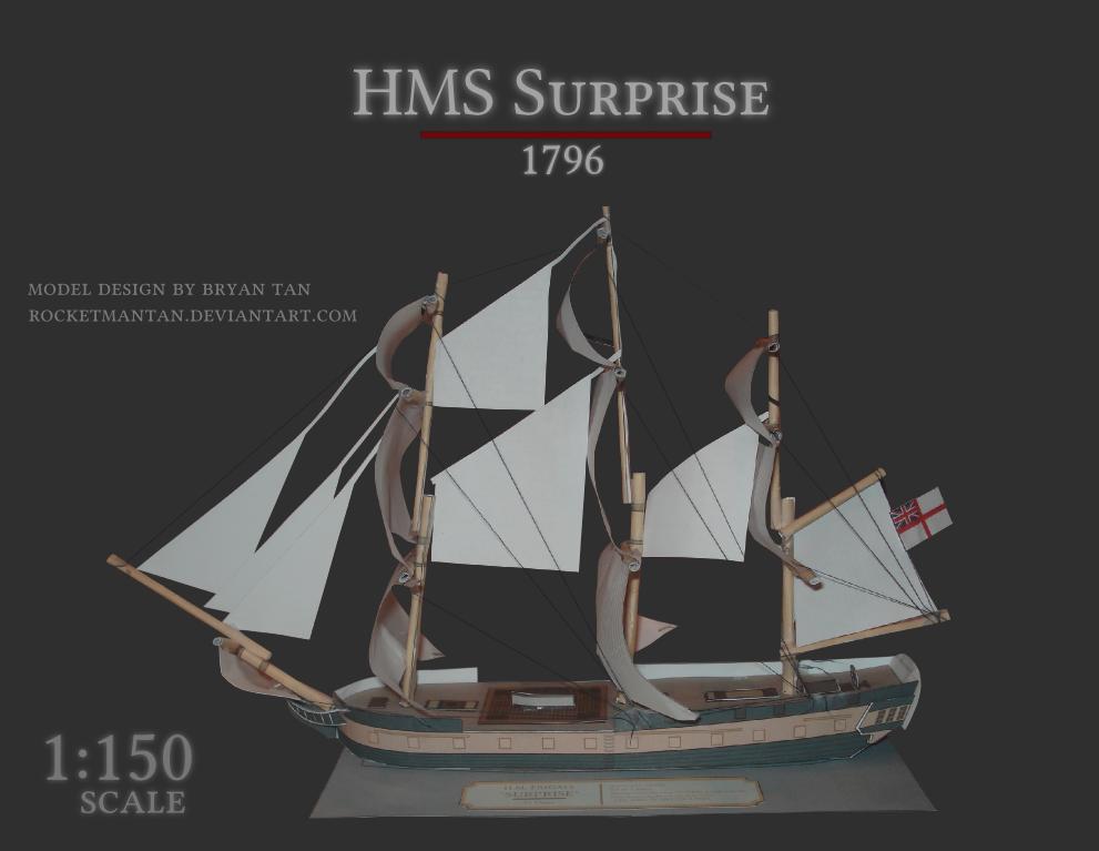HMS Surprise Papercraft 1796