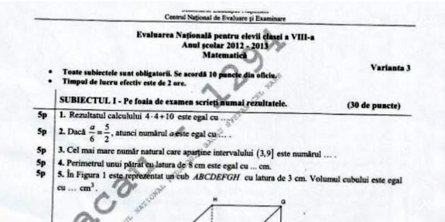 2013 06 28 Evaluare Nationala