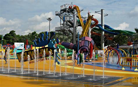 stock photo  singapore theme park water park