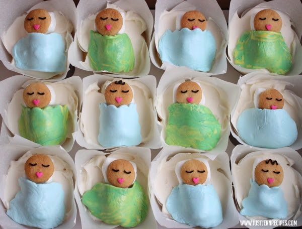 Baby Boy Shower Cupcakes Justjenn Recipes Justjenn Recipes