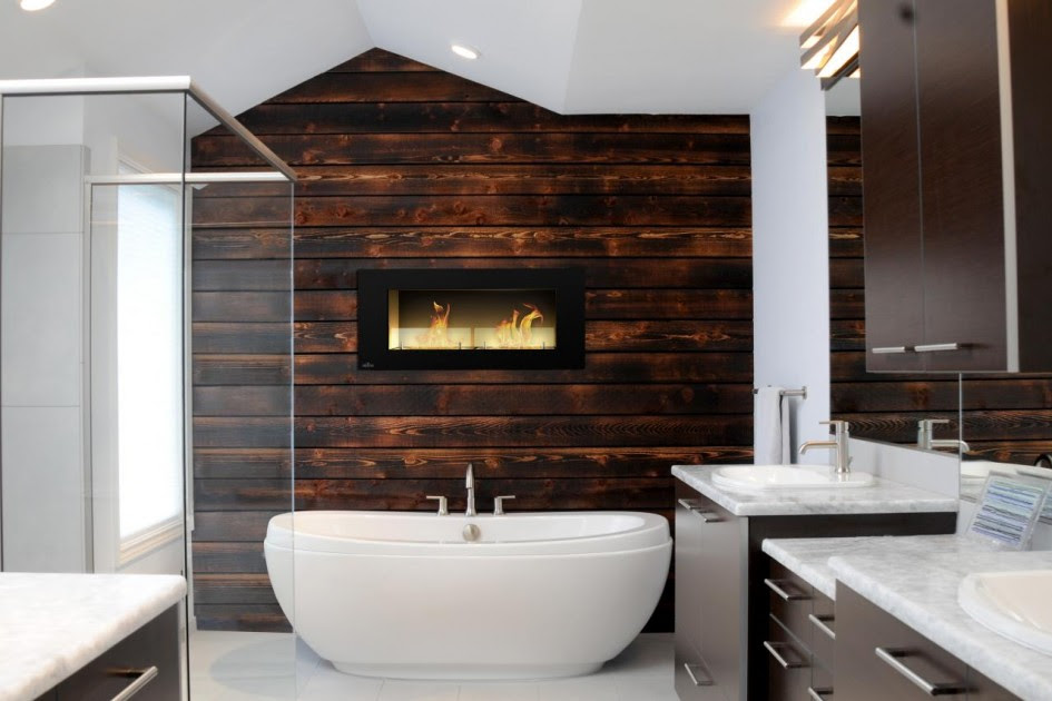 16 Marvelous Bathroom Designs With Wooden Wall That Abound ...