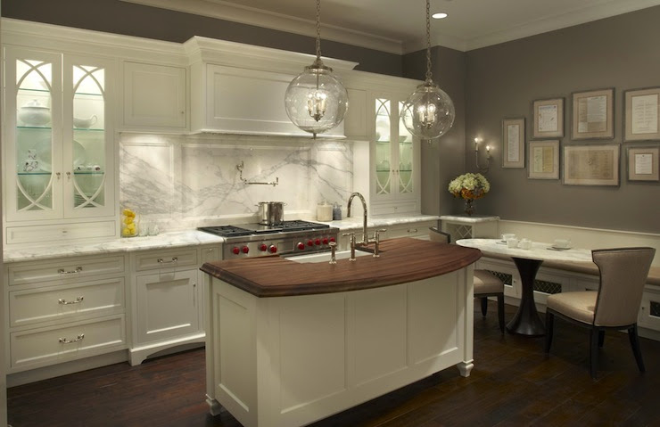 Curved Kitchen Island - Contemporary - kitchen - Grothouse Lumber