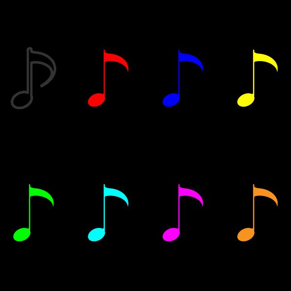 かわいい音符八分音符の無料イラスト商用フリー オイデ43