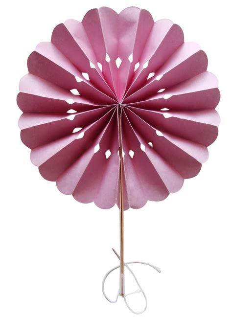 """8"""" Pink Pinwheel Paper Folding Hand Fan for Weddings (10"""