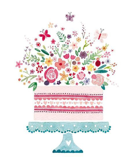 Birthday cake clip art floral   15 clip arts for free