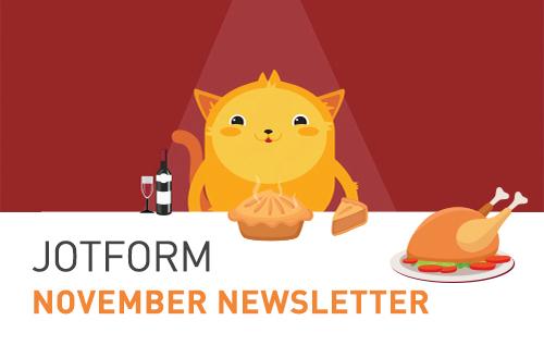 Visual: JotForm November Newsletter