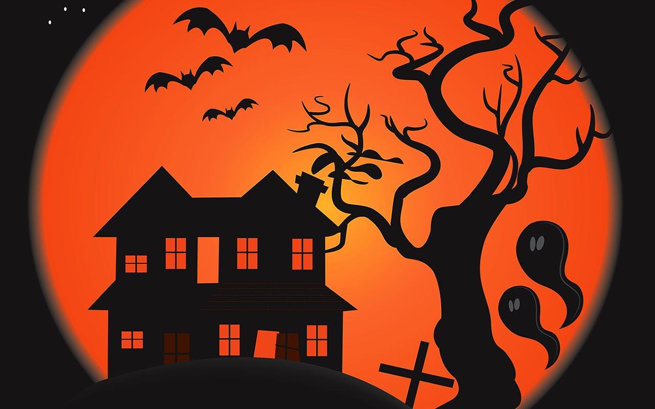 halloween scary scene